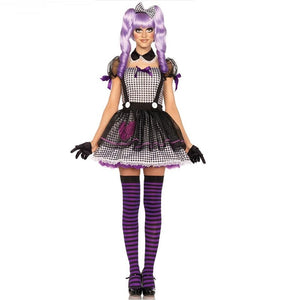 Halloween Costume Purple and Black Adult Bar