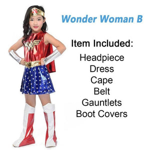 Costume Fancy Dress Wonder Women Batgirl