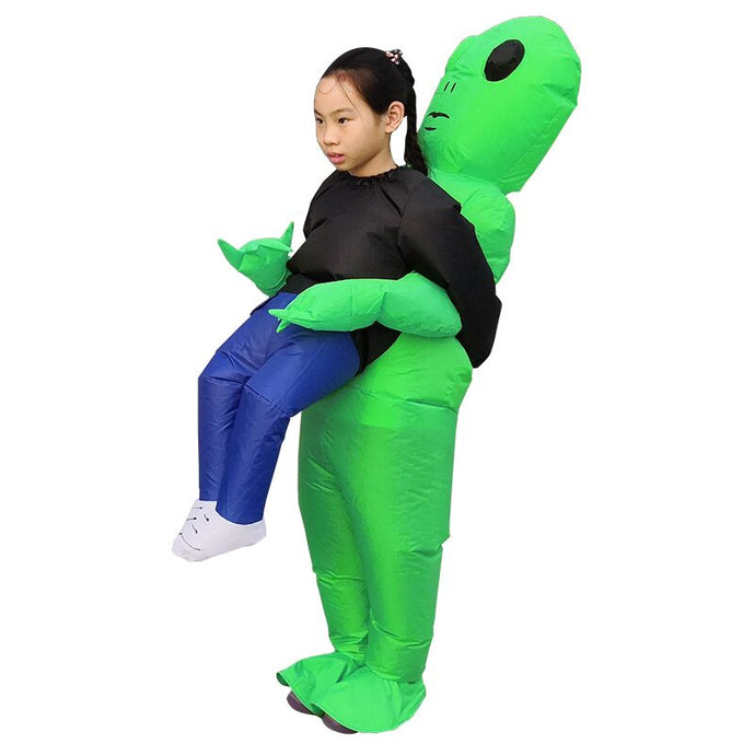 New Purim Scary Green Alien Cosplay