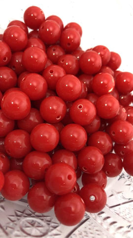 12mm Solids - Red/Yellow