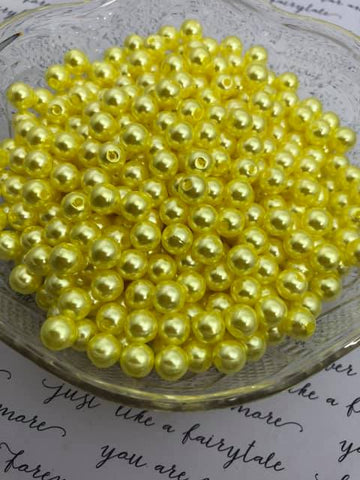 8mm Pearls - Yellows