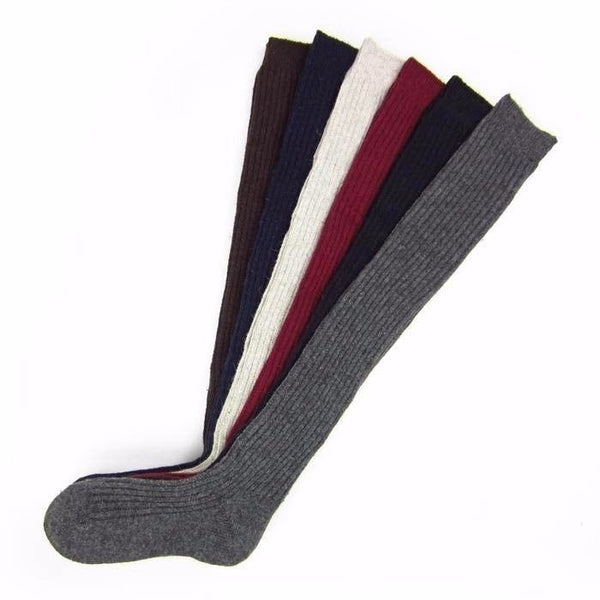 Winter Warm Women Knit Crochet Cotton Soft Thick Long Socks Thigh-High Leggings