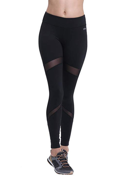 ZOANO Womens Yoga Pants Workout Running Leggings Power Flex With Mesh