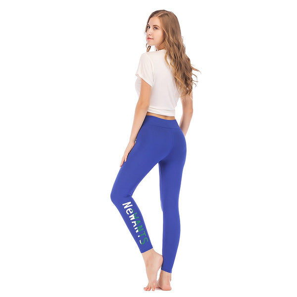 LEGGINGS LADIES/WOMEN COMFORTABLE SPORTS CASUAL COLOR BLUE