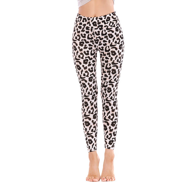 LEGGINGS LADIES/WOMEN COMFORTABLE SPORTS CASUAL PRINT COLOR 10814