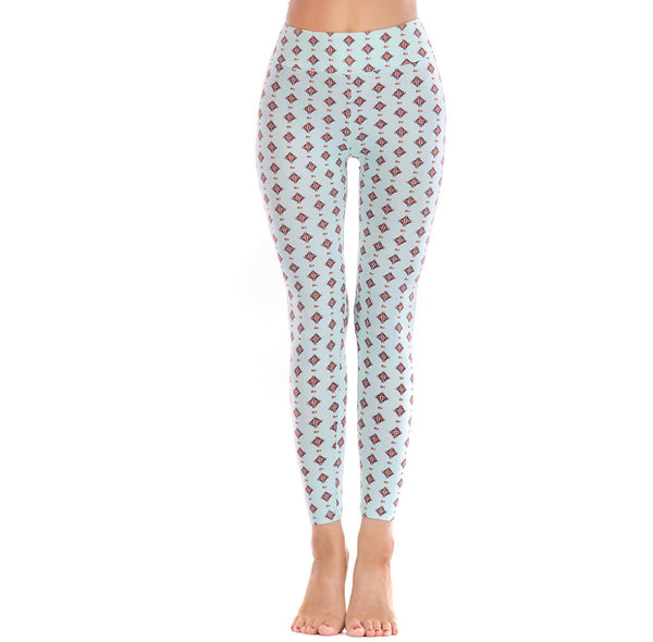 LEGGINGS LADIES/WOMEN COMFORTABLE SPORTS CASUAL PRINT COLOR 10710