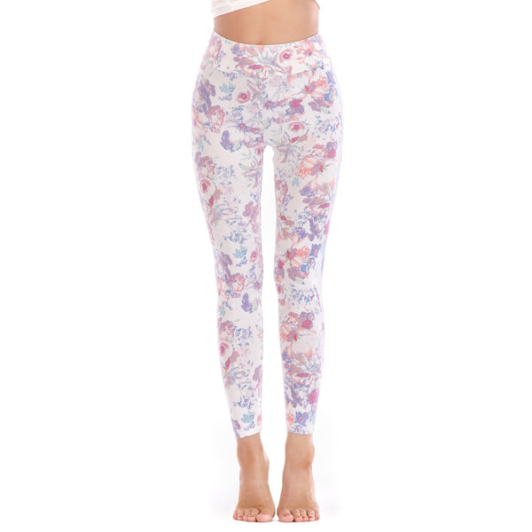 LEGGINGS LADIES/WOMEN COMFORTABLE SPORTS CASUAL PRINT COLOR 10152