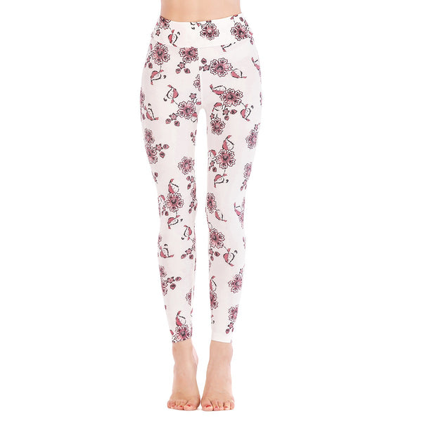 LEGGINGS LADIES/WOMEN COMFORTABLE SPORTS CASUAL PRINT COLOR 10236