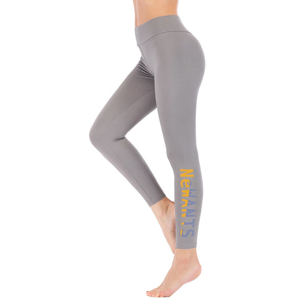 LEGGINGS LADIES/WOMEN COMFORTABLE SPORTS CASUAL COLOR GREY