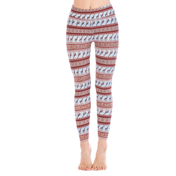 LEGGINGS LADIES/WOMEN COMFORTABLE SPORTS CASUAL PRINT COLOR 10586