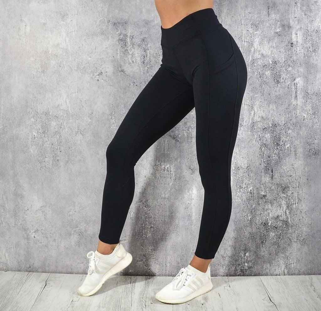 3f3d9b0ad3a993 2019 New Fashion Women Leggings Slim Fit Yoga Running Pants with Pocket Gym  Fitness Leggings Workout Pants
