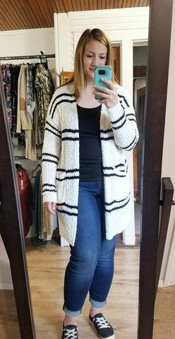Classic Striped Cardigan