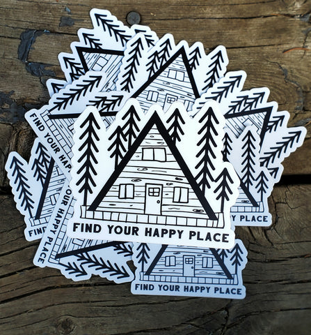 Find Your Happy Place Vinyl Sticker