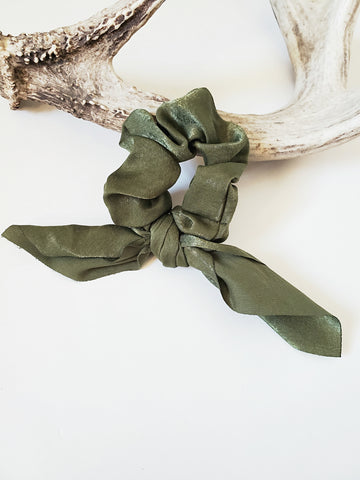 Satin Bow Tie Scrunchies