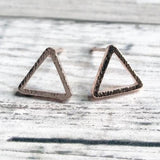 Brushed Triangle, rose gold