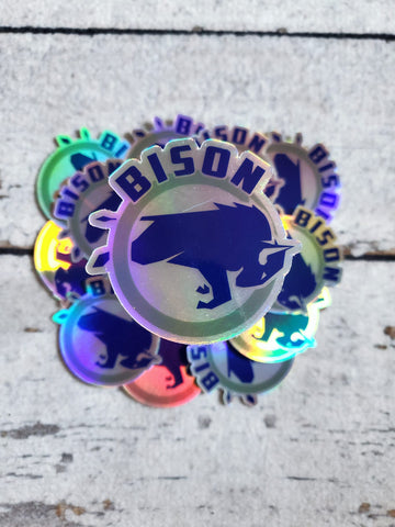 NI Bison Holographic Vinyl Sticker