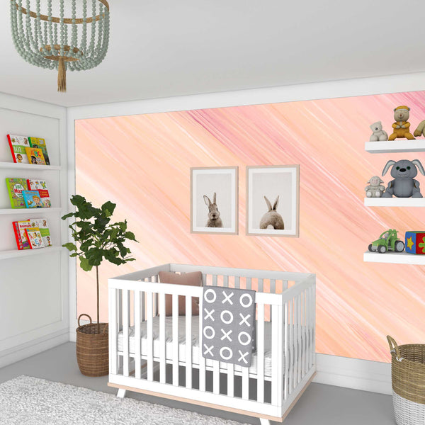 Abstract Pink Marble Mural
