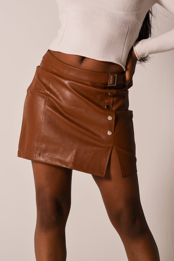 The Perfect Leather Mini Skirt