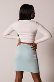 Waist Band Mini Skirt
