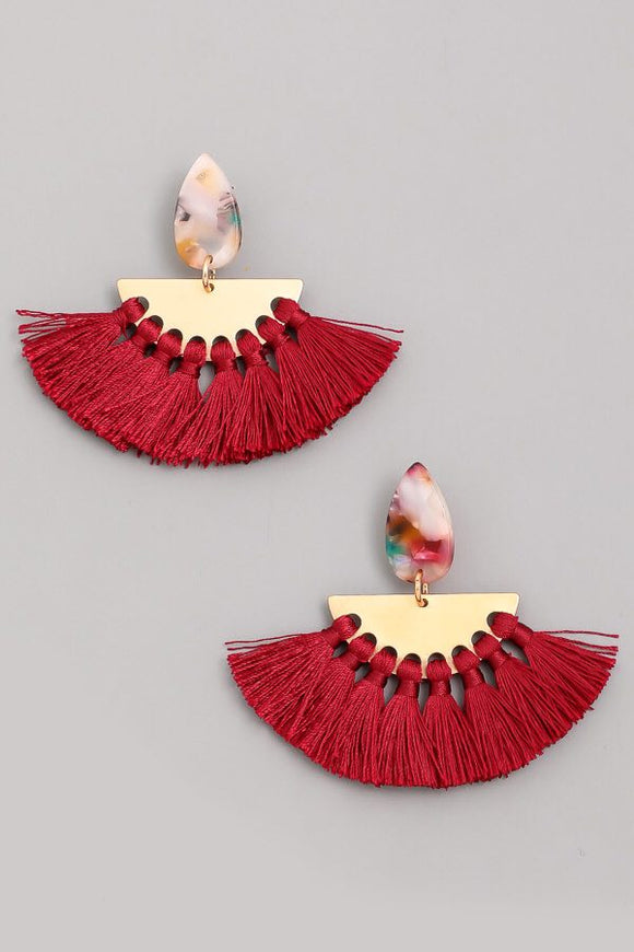 Tassel Drop Fashion Earrings - Calisa's Closet