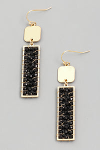 Leopard Print Rectangle Drop Earrings - Calisa's Closet