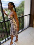 Snake Print Tube Dress - Calisa's Closet