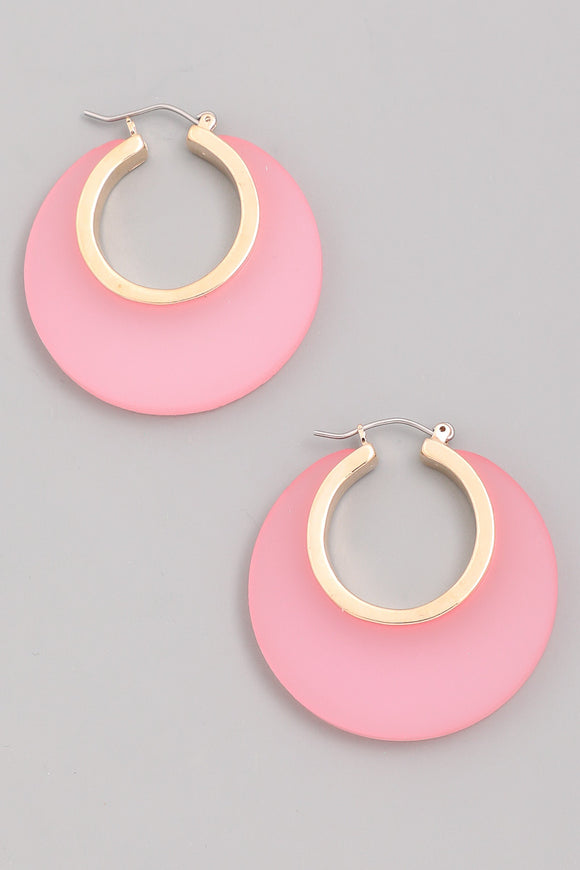Resin Hoop Earrings - Calisa's Closet