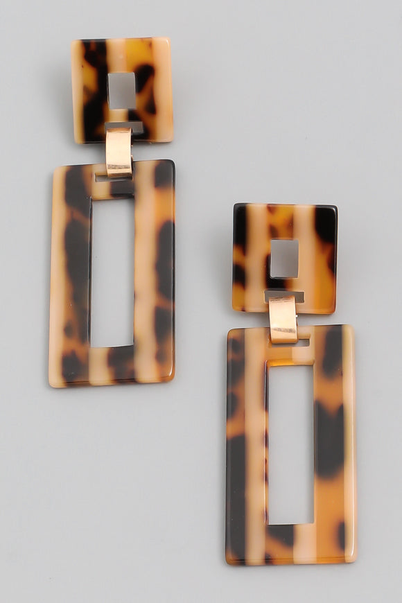 Rectangle Drop Earrings - Calisa's Closet