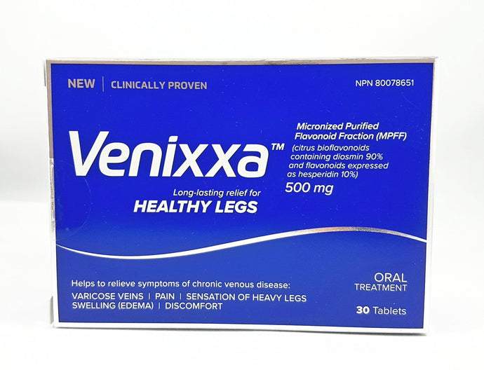 VENIXXA HEALTHY LEGS 500MG 30'S (Mircronised Purified Flavonoid)