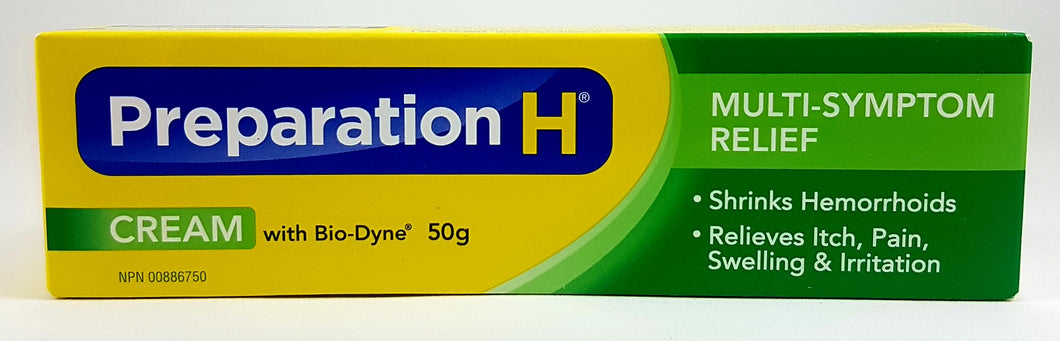 PREPARATION H CREAM WITH BIO-DYNE 50G - NorthernVitality.us