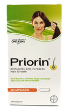 Load image into Gallery viewer, PRIORIN HAIR GROWTH CAPSULES 60'S
