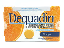 Load image into Gallery viewer, DEQUADIN THROAT LOZENGES ORANGE 16'S