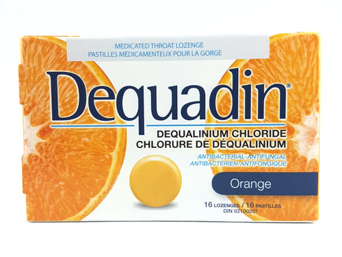 DEQUADIN THROAT LOZENGES ORANGE 16'S - NorthernVitality.us