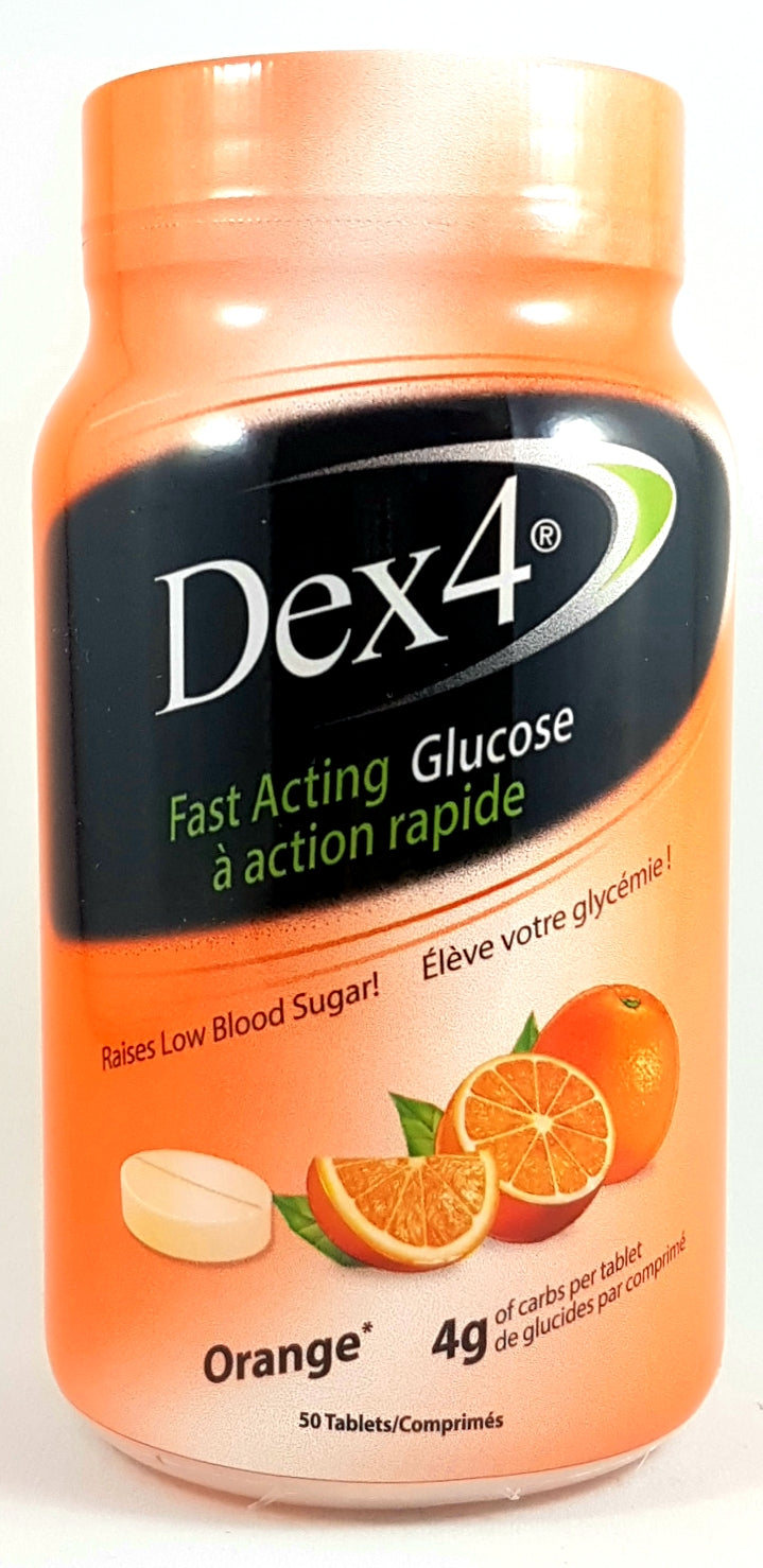 DEX 4 GLUCOSE 50 TABLETS - ORANGE - NorthernVitality.us