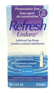 REFRESH ENDURA LUBRICANT EYE DROPS 20 X 0.4 ML STERILE - NorthernVitality.us