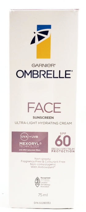 OMBRELLE FACE CREAM XL SPF 60 75ML - NorthernVitality.us