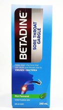 Load image into Gallery viewer, BETADINE SORE THROAT GARGLE 240ML - NorthernVitality.us
