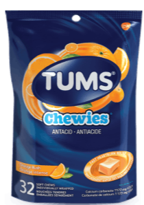 TUMS Chewies Orange Rush 32ct bag - NorthernVitality.us