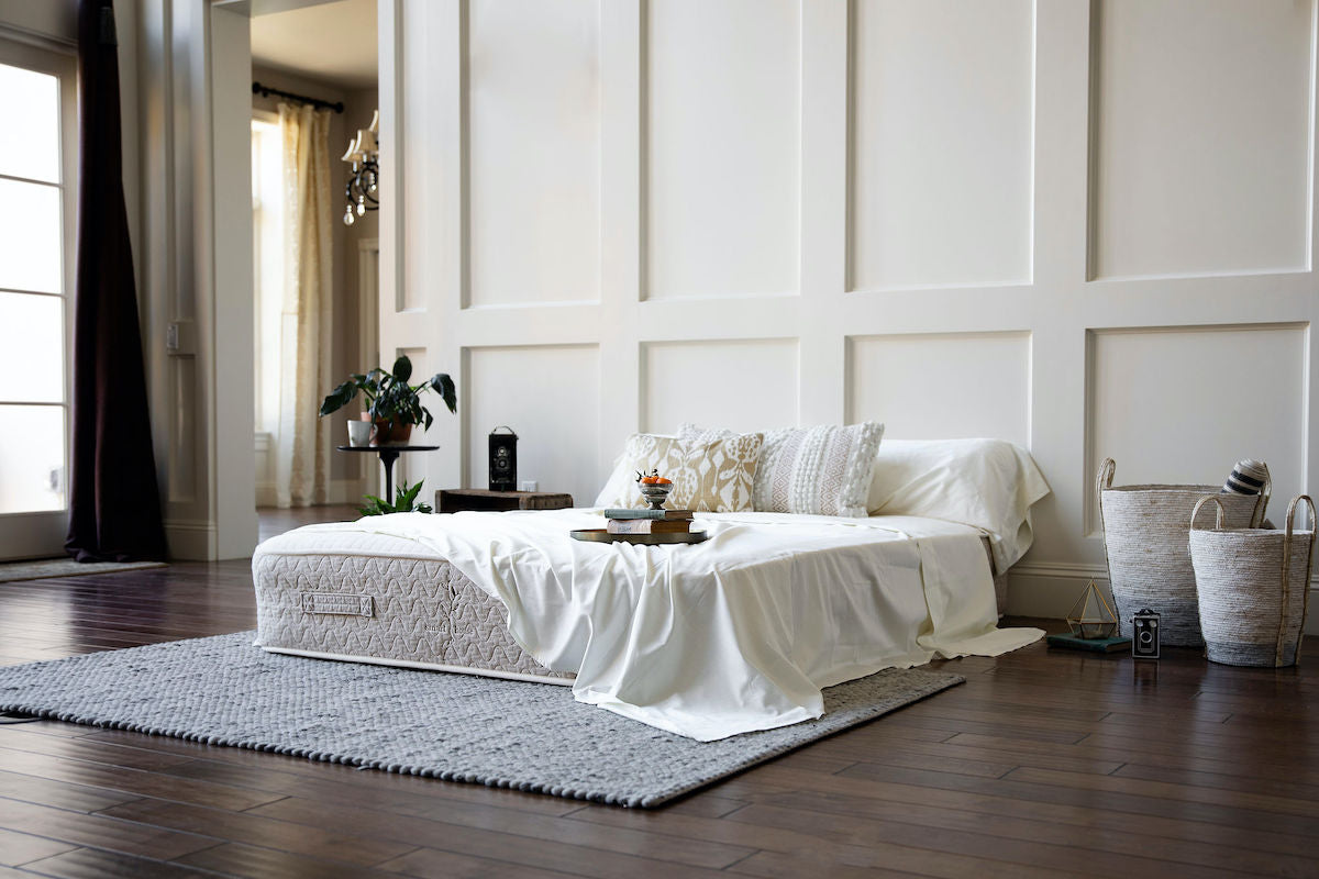 beautiful bedroom organic latex mattress