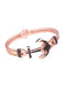 Anchor Braided Bangle in Rose Gold