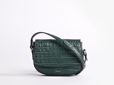 Ana  Mini Crossbody by Verlein, in Amazon Green.  Front view.