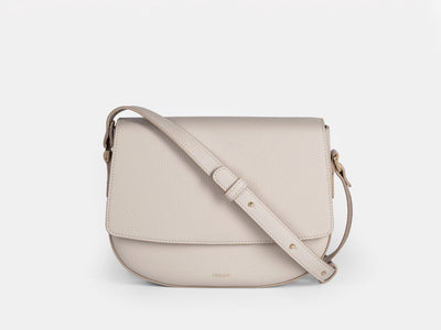 Ana Crossbody Bag by VERLEIN, in Crema.  Front View.