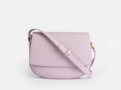Ana  Crossbody by Verlein, in Lavender Haze.  Front view.