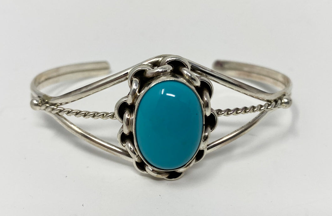 1 Stone Turquoise Cuff