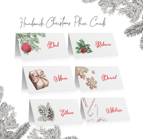 Printable Christmas Place Cards