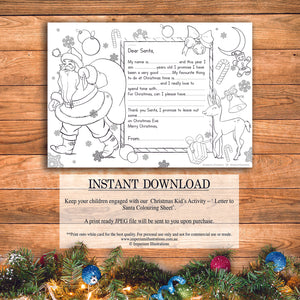 Printable Letter To Santa – Colouring Sheet