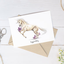 Load image into Gallery viewer, Happy Birthday Unicorn – C6 Greeting Card