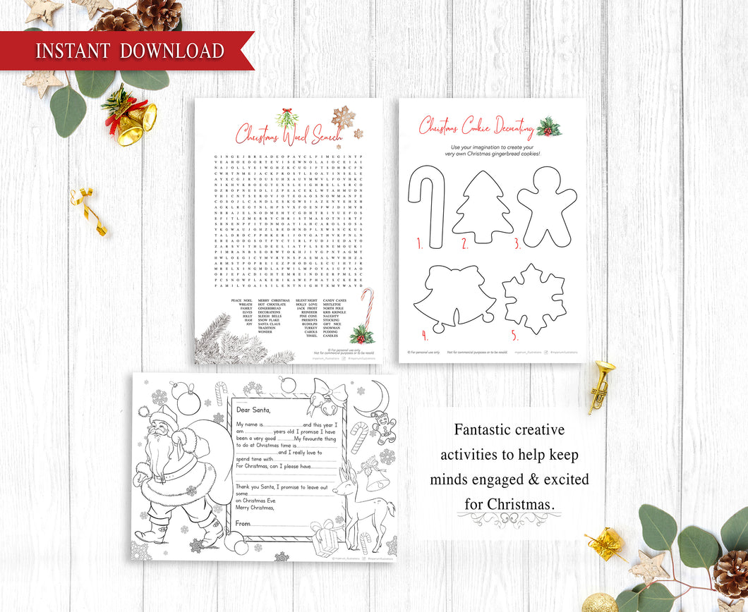 Christmas Games Activity Pack