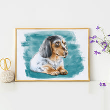 Load image into Gallery viewer, Dachshund Print Framed
