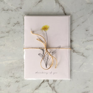 'Thinking Of You' Dandelion Greeting Card